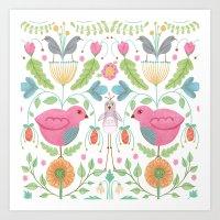Garden Folk Art Print