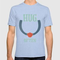 hug often Mens Fitted Tee Tri-Blue SMALL