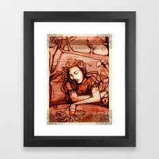 Ophelia - Hamlet - Shakespeare Folio Illustrations - Floral  Framed Art Print