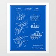Lego Building Brick Pate… Art Print
