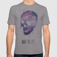 Mad To Live Mens Fitted Tee Athletic Grey SMALL
