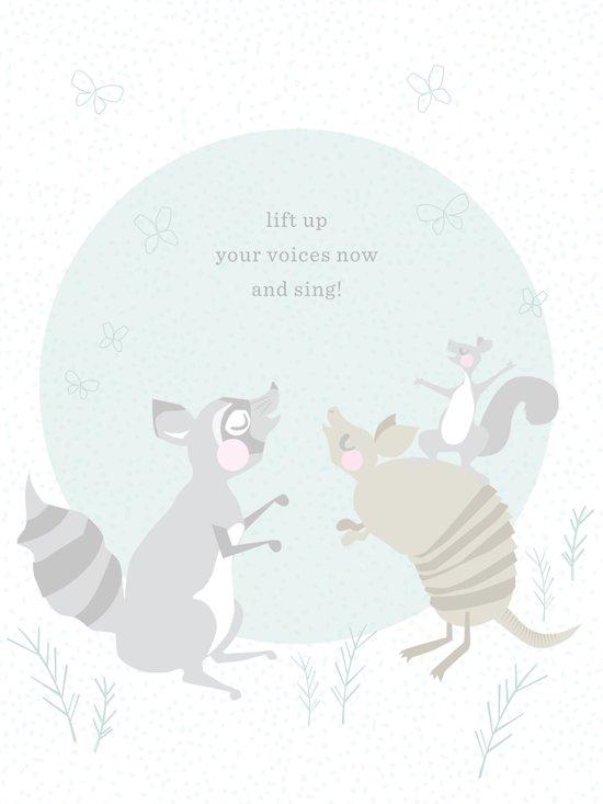 Raccoon Singing Art Print