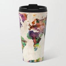 World Map Urban Watercolor Travel Mug