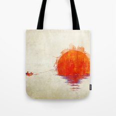 The Fisherman and His Boy Tote Bag