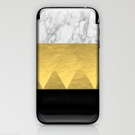 Stacked - Gold Foil Blac… iPhone & iPod Skin
