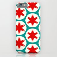 iPhone & iPod Case featuring Retro Red Stars II by Stoflab