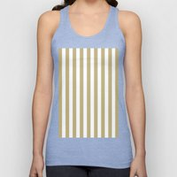 Vertical Stripes (Sand/White) Unisex Tank Top