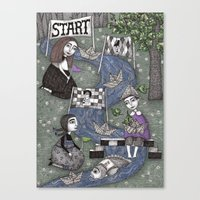 The Boat Race Canvas Print