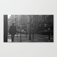 Streets of Paris Canvas Print