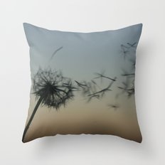 wishes on the wind Throw Pillow