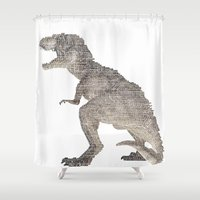 Tyrannosaurus Rex  ROAR!! Shower Curtain