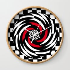 Checkered Meditation Wall Clock