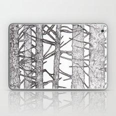 Black & White Trees Laptop & iPad Skin