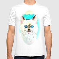 Kitty Mens Fitted Tee White SMALL
