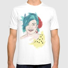 Blue haired girl Mens Fitted Tee White SMALL