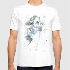 Scarf Mens Fitted Tee White SMALL