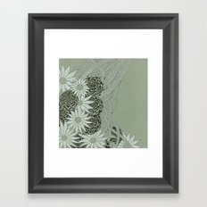 Flowerlines Framed Art Print