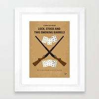 No441 My Lock, Stock and Two Smoking Barrels minimal movie poster Framed Art Print