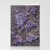 Lilac world map Stationery Cards
