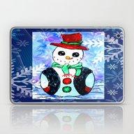 Snowman Christmas Painti… Laptop & iPad Skin