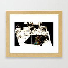 Who made the brownie that we ate a few minutes ago? Framed Art Print