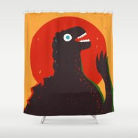 Godzilla Welcomes You to Monster Island, Gojira Shower Curtain