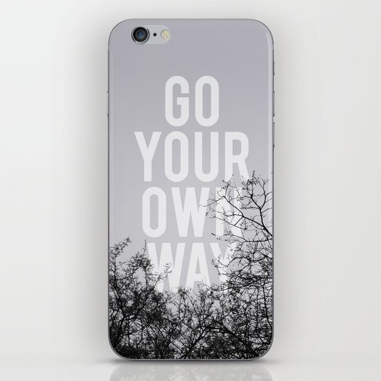 Go Your Own Way II iPhone & iPod Skin