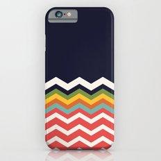Retro Chevrons (salmon and navy) iPhone 6 Slim Case