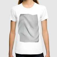 flag T-shirts featuring Minimal Curves by Leandro Pita