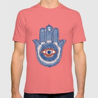 Hamsa Power Mens Fitted Tee Pomegranate SMALL