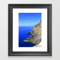 On The Rocks Framed Art Print