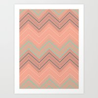 Soft Chevron Art Print