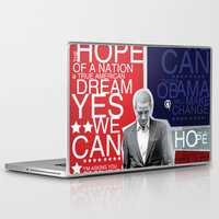 obama Laptop & iPad Skins featuring Barack Obama by kaseysmithcs