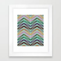 Graphic Waterfall Framed Art Print
