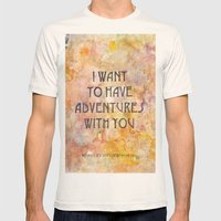 Adventures With You Mens Fitted Tee Natural SMALL