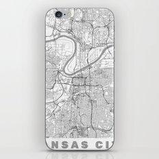 Kansas City Map Line iPhone & iPod Skin