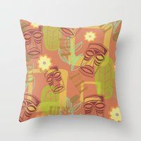Happy Hour At The Tiki Room Throw Pillow