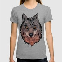 Wolf Mother Womens Fitted Tee Tri-Grey SMALL
