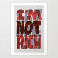 Newt's Not Rich Art Print