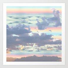 Pastel Ocean Sky Art Print