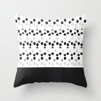 I See Dots In Black And … Throw Pillow