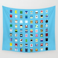 Minimalism beloved Videogame Characters Wall Tapestry