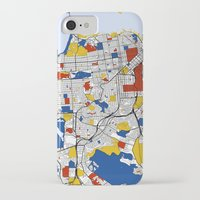 san francisco iPhone & iPod Cases featuring San Francisco by Mondrian Maps