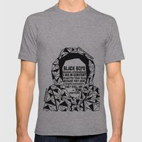 Trayvon Martin - Black Lives Matter - Series - Black Voices Mens Fitted Tee Athletic Grey SMALL