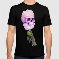 Cotton Candy Cthulhu Mens Fitted Tee Black SMALL