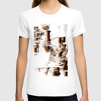 Illustration Mashup Womens Fitted Tee White SMALL