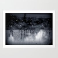 rain abstract Art Print