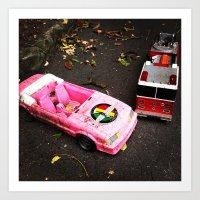 Barbie Causes An Acciden… Art Print