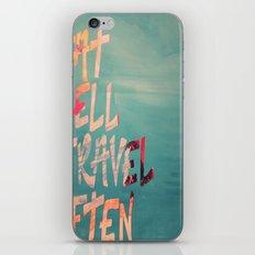 EatWell. TravelOften iPhone & iPod Skin