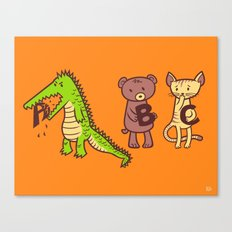 A is for Jerks! Canvas Print